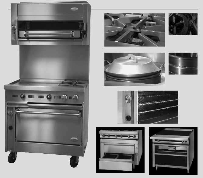 Marvelous Bistro Series Handcrafted Commercial Ranges, Ovens, Griddles, And Broilers  By JADE